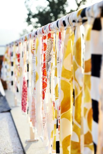 Use textiles to disguise unsightly railings