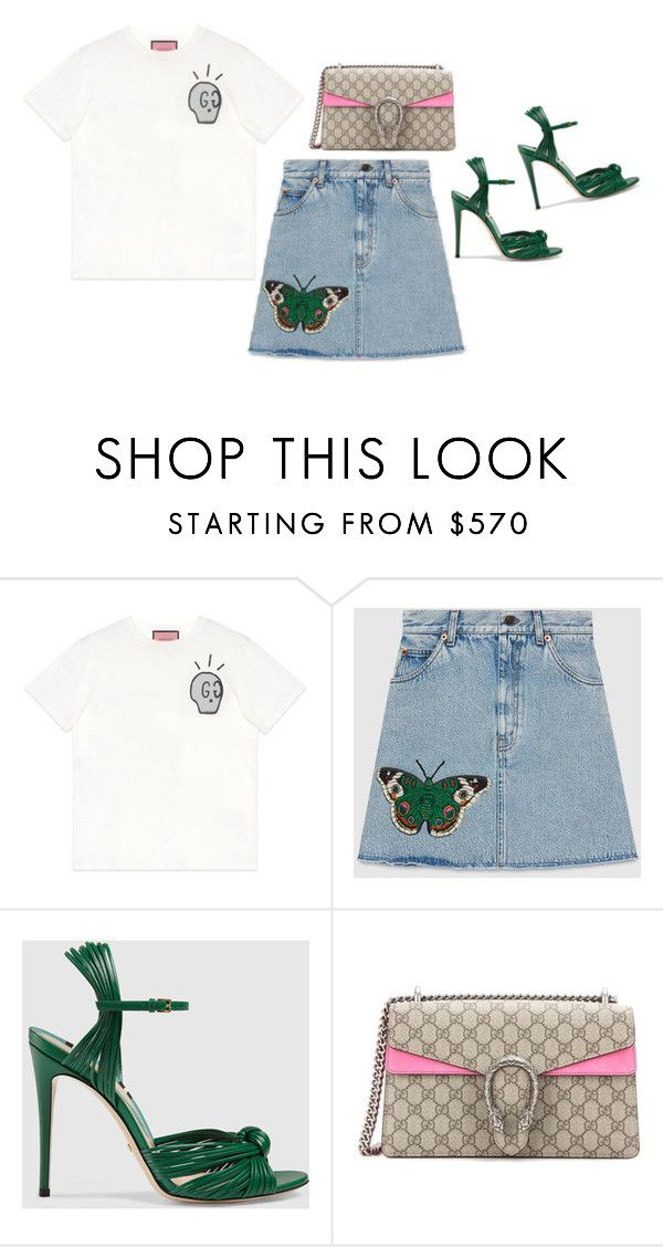 """""""gucci top to toe 2"""" by victoriaandersen ❤ liked on Polyvore featuring Gucci"""