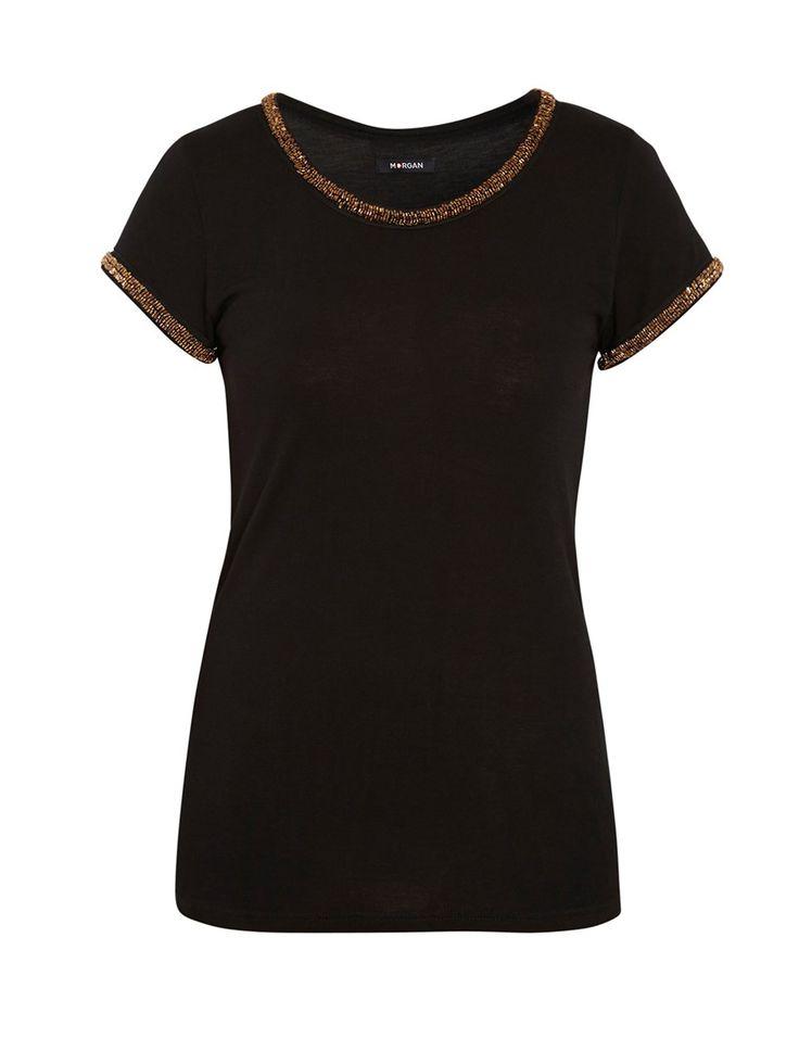 T-shirt col manches bijoux #MORGANDETOI #GOLD