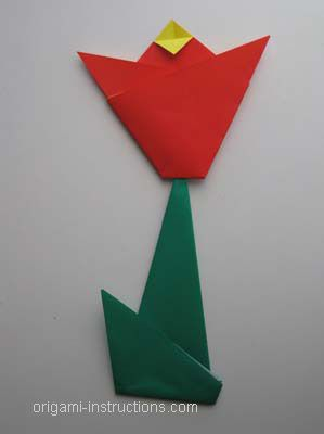 Completed Easy Origami Tulip