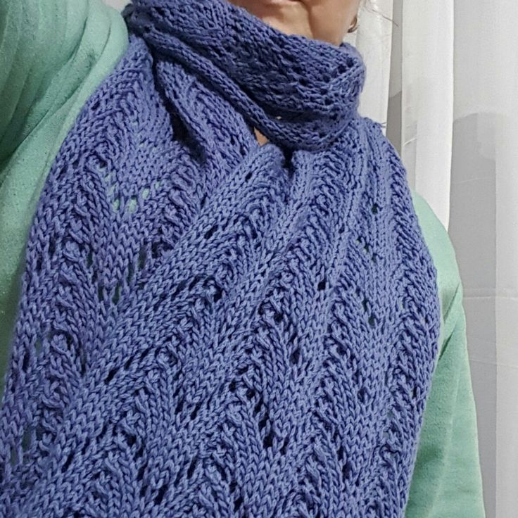 Horseshoe lace scarf!