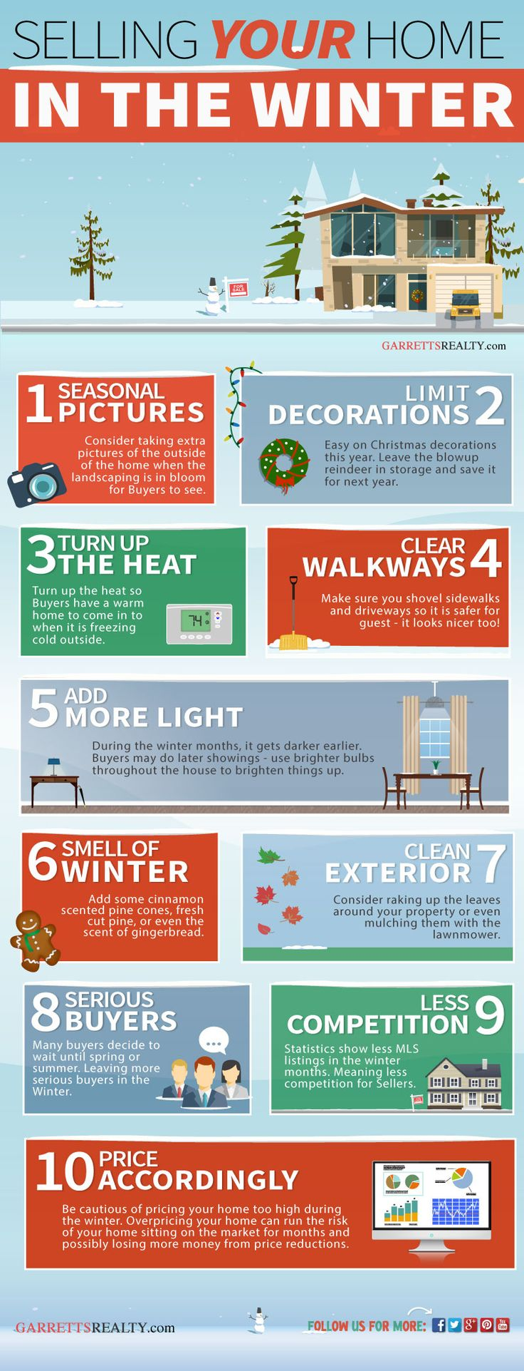 Selling home during the Winter INFOGRAPHIC #RealEstate