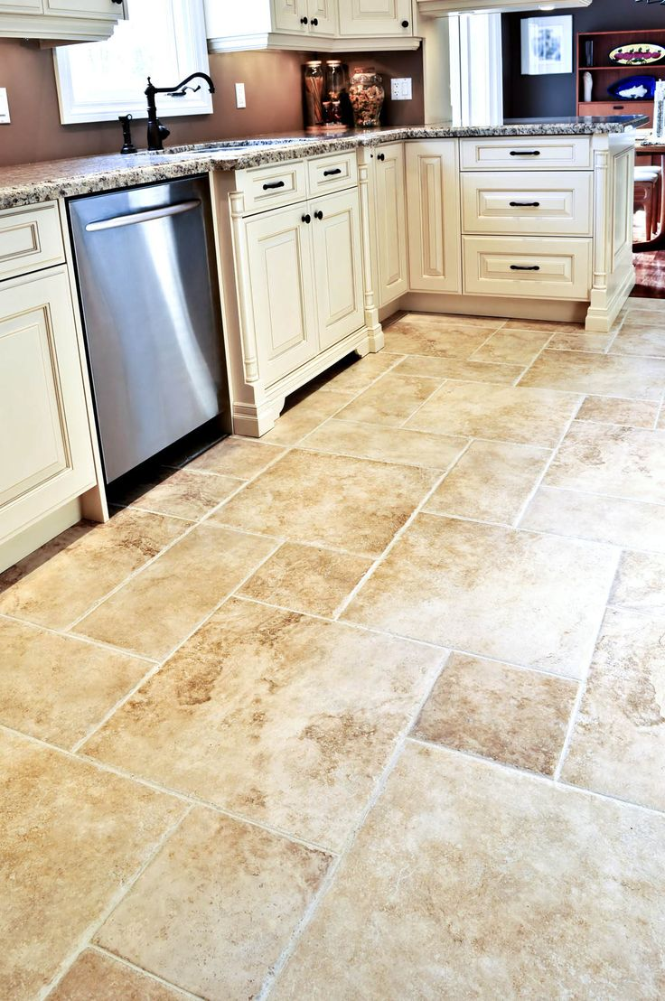 Best flooring for a kitchen - Depiction Of Rectangular Floor Tile Design Kitchen Floor Tileskitchen Diningbest