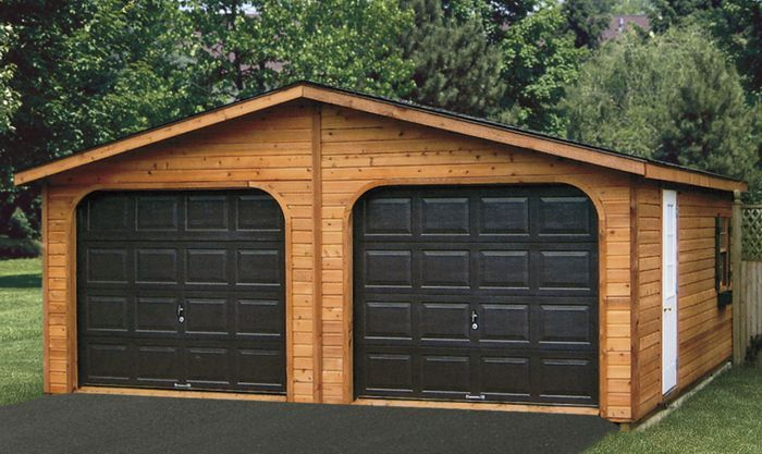 20 best images about garages on pinterest pole barn kits for Construction garage double