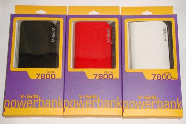 V-GeN Powerbank 7800 mAh  (Garansi 1 Tahun V-GeN)