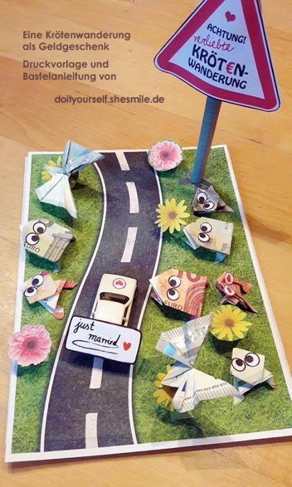 Es steht eine Hochzeit, ein Geburtstag oder eine Babyparty an? 8 lustige Geld-Geschenk Ideen! - DIY Bastelideen