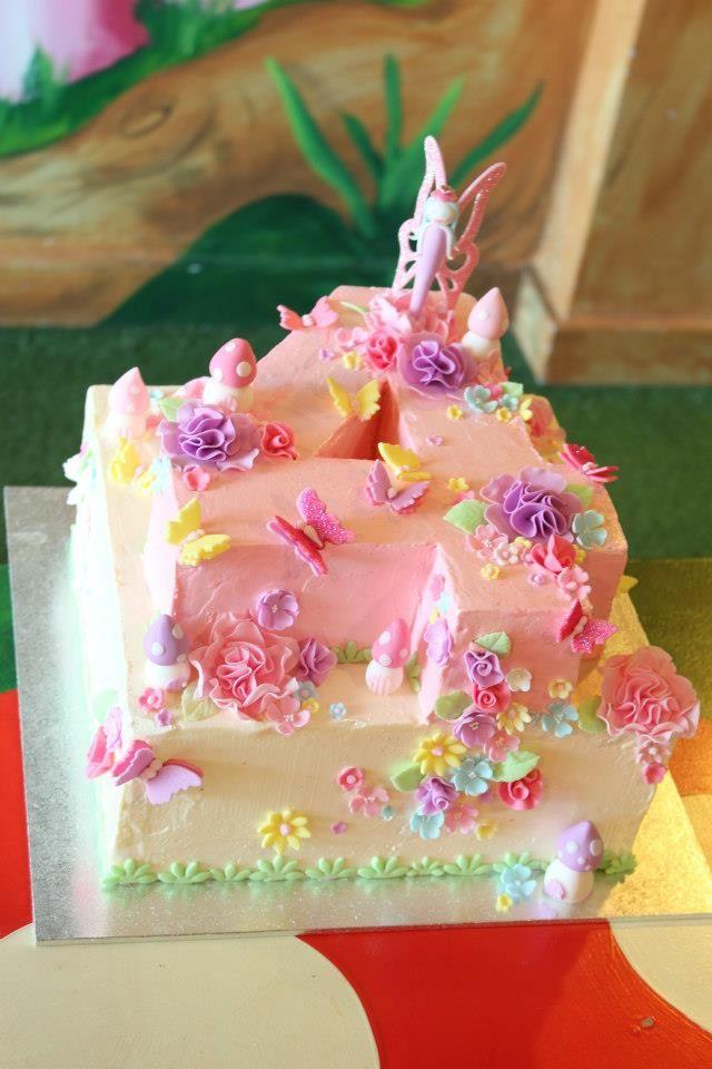 fairy butterfly cake | Chloe Kerr Cake: Girls Fairy Garden Birthday Cake