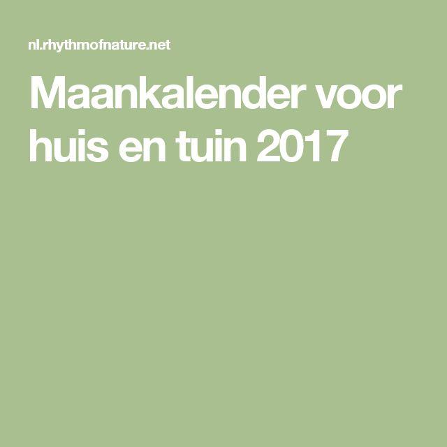 Maankalender voor huis en tuin 2017