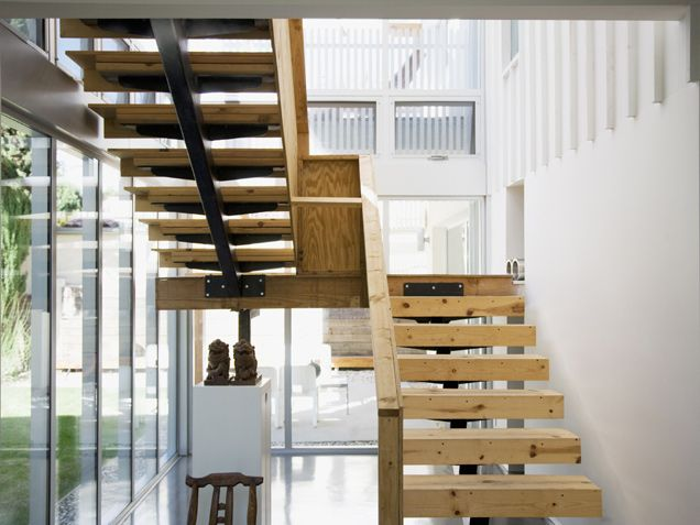 wood stairs....