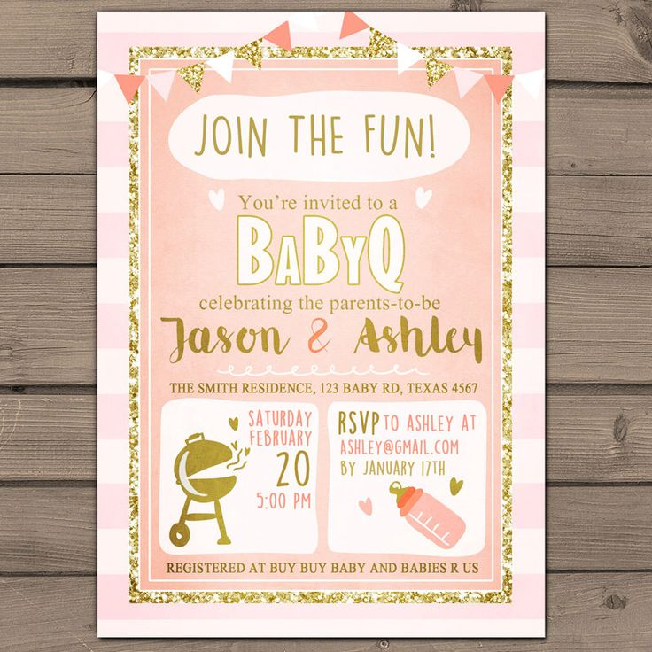 best 25+ baby q invitations ideas on pinterest | diaper shower, Baby shower invitations