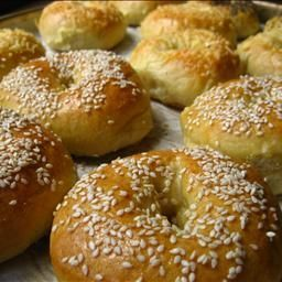 Best Ever Bagels on BigOven: These bagels come out chewy and pillowy soft.