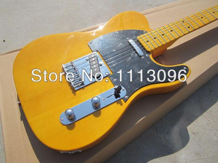 Envío gratis wholsale guitarra TL guitarra/amarillo color oem de la guitarra eléctrica/guitarra en china