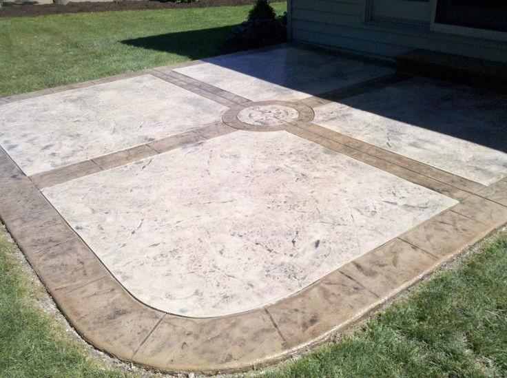 Stamped Textured Concrete Patio   Toledo Ohio