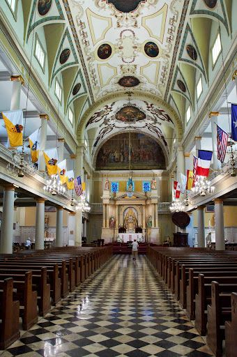 st louis cathedral . french quarter . new orleans . louisiana