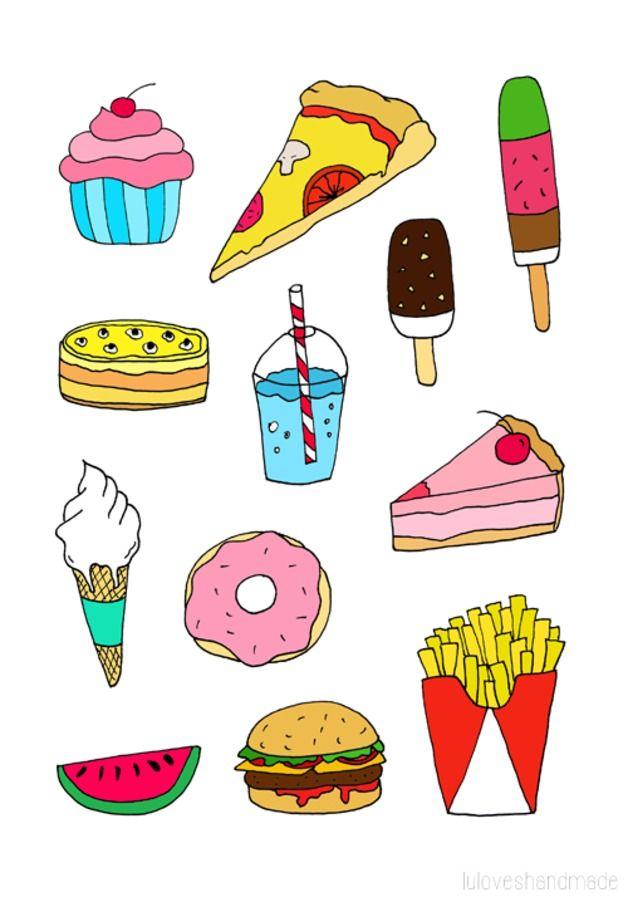 Fast food art print.