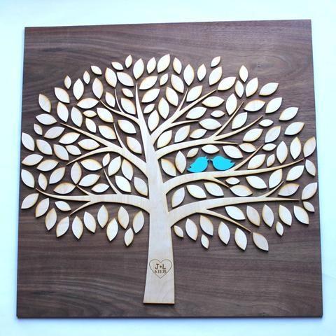 Tree of Life DIY Kit Wooden Wedding Guestbook Alternative