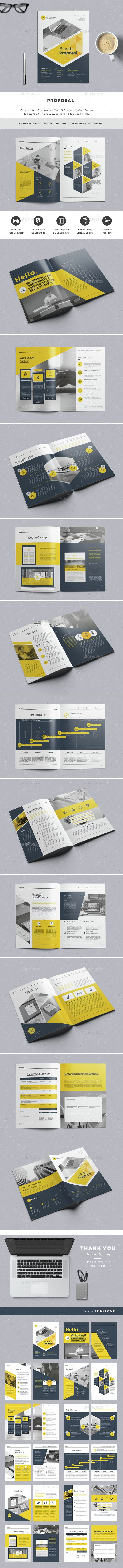 Proposal Template InDesign INDD. Download here: http://graphicriver.net/item/proposal/15159473?ref=ksioks