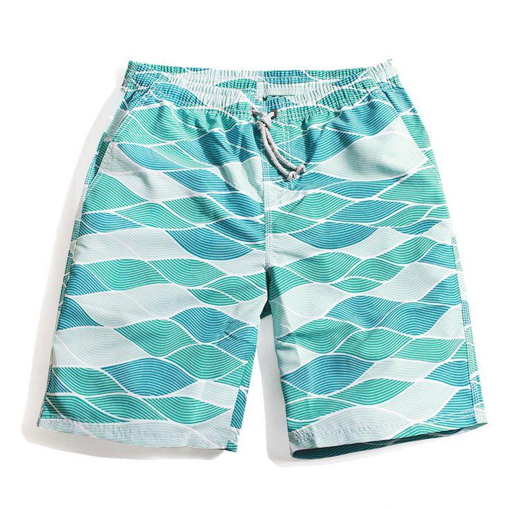 2017 Summer Mens Sportswear Beachwear Plaid Swimming Board Shorts Trunks Surfing Pants Men Swimsuit of Large Size Bermuda Surf