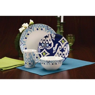 Rachael Ray 16pc Dinnerware Set Blue