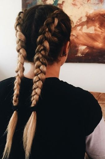 double dutch braids | hair + makeup | Pinterest | Double ...