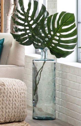 Recycled Glass Oversized Vase Home Decor Idea Affiliate Livingroom Decoration Ideas