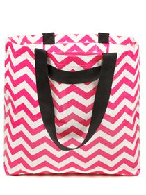 Tote Bag - Medium hot pink chevron