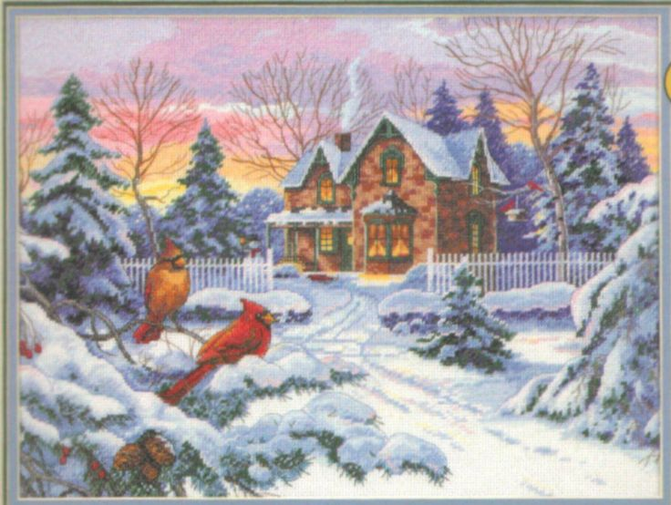 "DIMENSIONS THE GOLD COLLECTION ""WINTER MEMORIES"" COUNTED CROSS STITCH KIT #Dimensions #Picture"