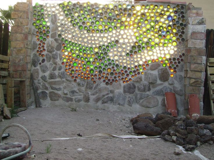 bottle wall   bottle wall is a wall made out of glass bottles and binding material ...
