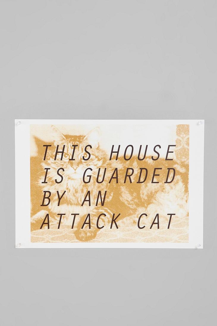 It just a pussy cat!: Cats, Attack Cat, Projects Ideas, Crazy Cat, Apartment Ideas, Prints Urbanoutfitt, Cat Ladies, Urbanoutfitt With, Cat Prints