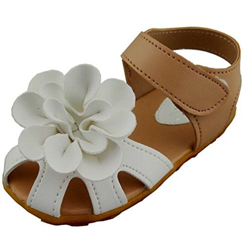 DADAWEN Girl's Flower Closed Toe Princess Sandal (Toddler/Little Kid)