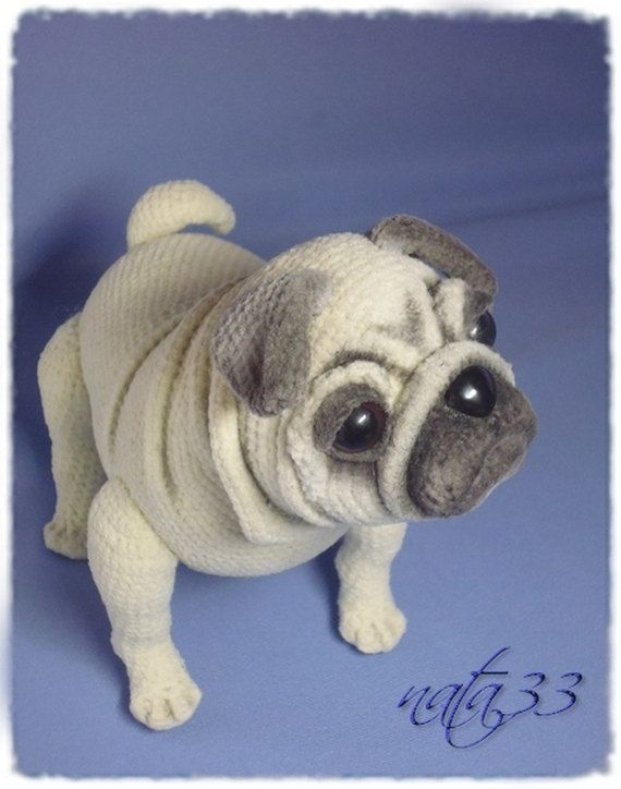 Pug Dog. This is a 15-page pattern for $8. with numerous pictures to help out.  Isn't it just gorgeous!!!!!