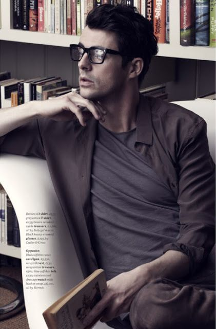 Matthew Goode, most famously known as Adrian Veidt/Ozymandias in Watchmen (2009). I usually don't like the hipster glasses thing, buuuut I'll make an exception here.