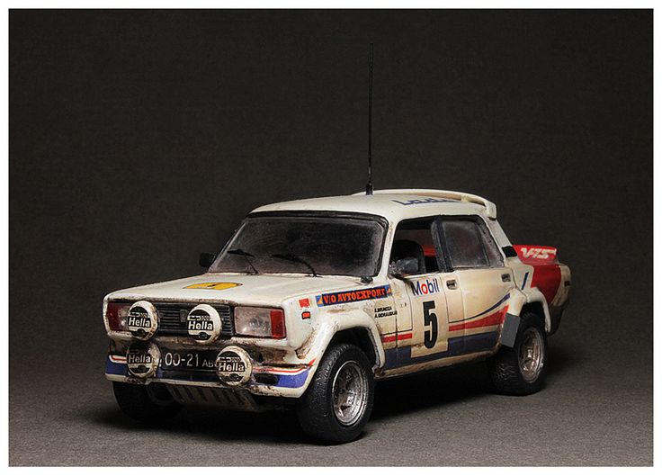 "Lada VFTS 1/43 ADAC Rally Hessen 1985 (Resin) S.Brundza/A.Gidrauskas. version - ""In action"""