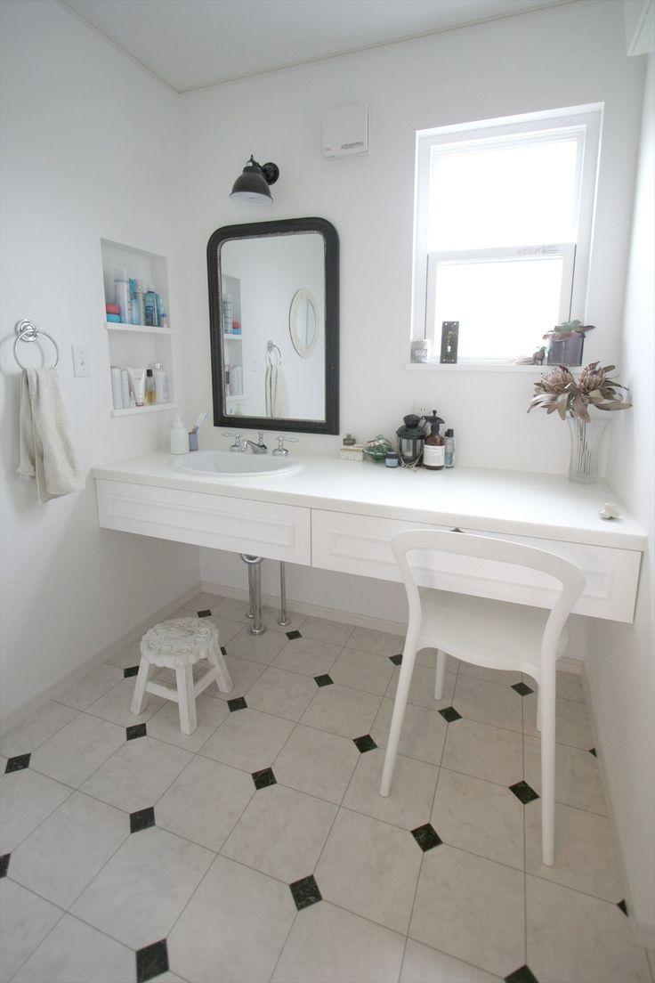 造作洗面台/洗面室/パリ/アパルトマン/ヴィンテージ/注文住宅/インテリア/ジャストの家/washstand/lavatory/powderroom/bathroom/vanity/vintage/design/interior/house/homedecor