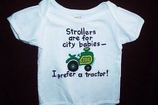 Tractor Baby Baby One Piece I Prefer A Tractor by Splashin on Etsy,