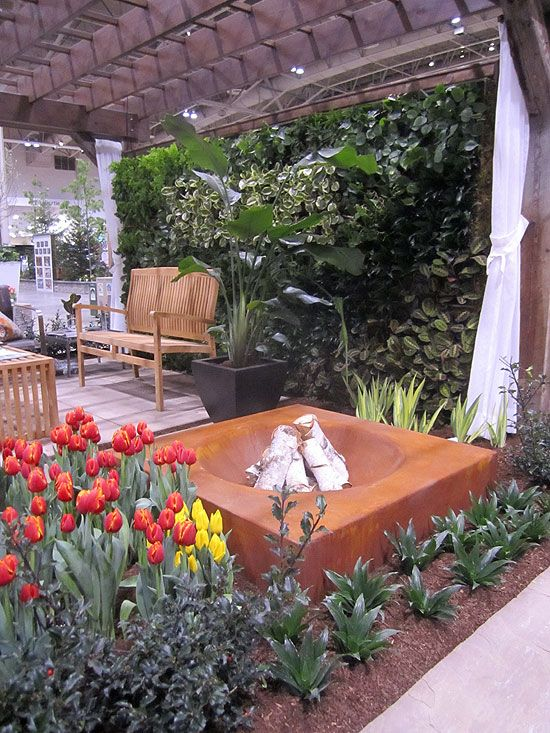 I'd love one of these in my backyard! (Landscapes by Lucin at Canada Blooms 2013!)