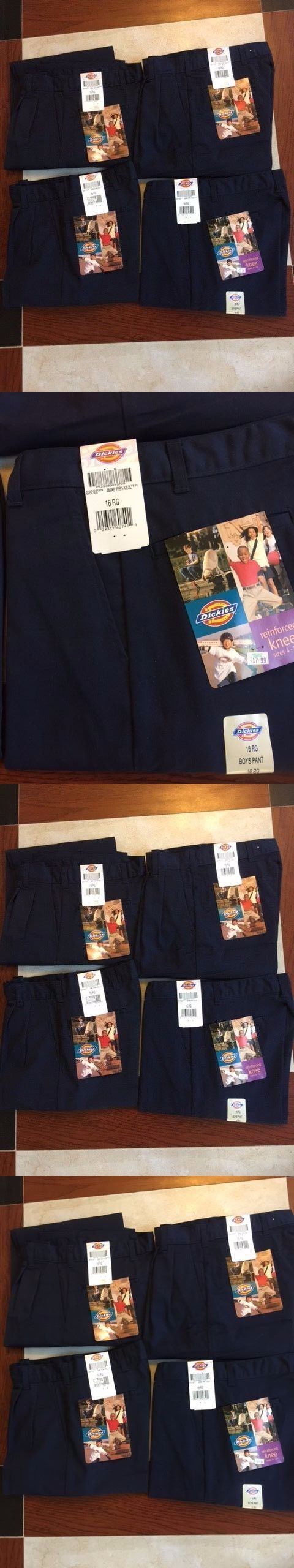Pants 51920: Lot Of 4 Dickies Pants Boys School Uniform Pants Pleated Front Size 16 Rg -> BUY IT NOW ONLY: $32 on eBay!