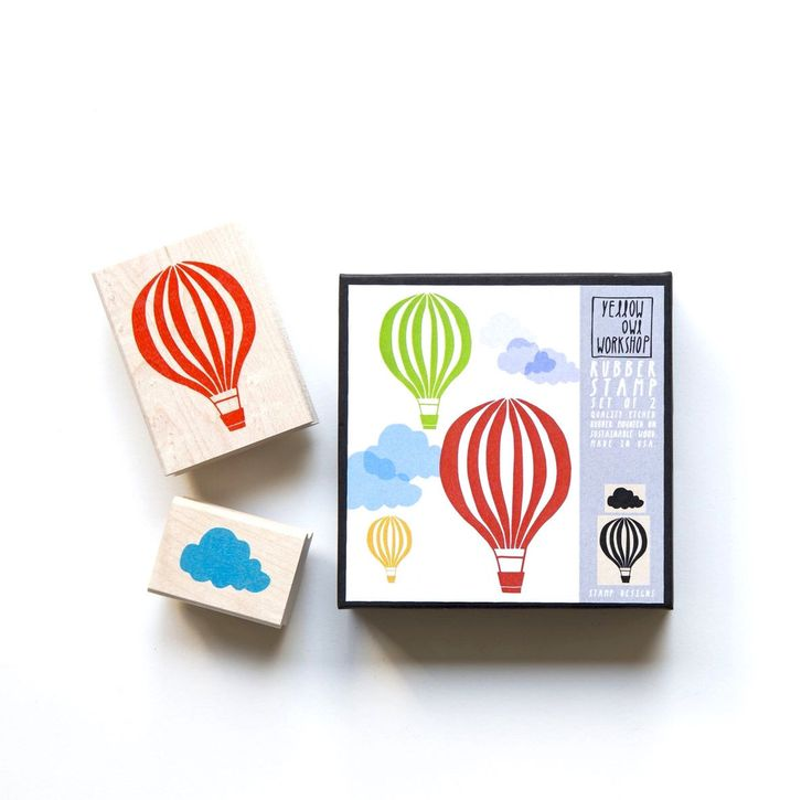 HOT AIR BALLOON STAMP SET – TREEHOUSE kid and craft