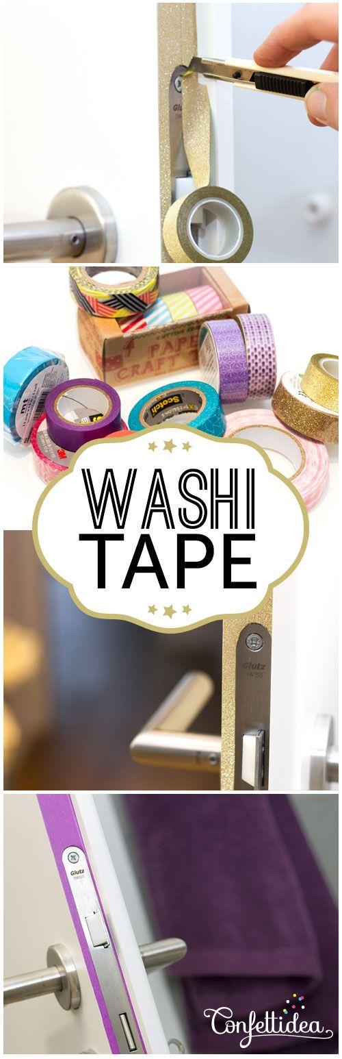 Décore tes portes avec du washi tape de couleur. Wake up your doors with Washi…