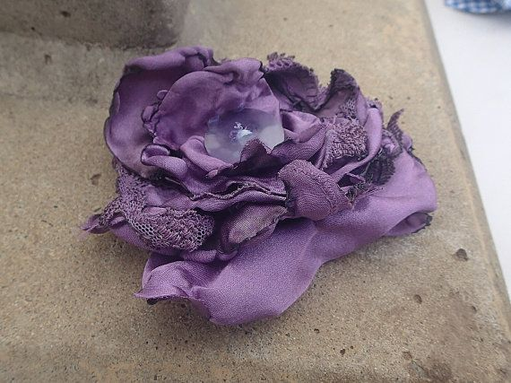 Shabby Chic flower hair clip/brooch. Original by SortThePost, $20.00