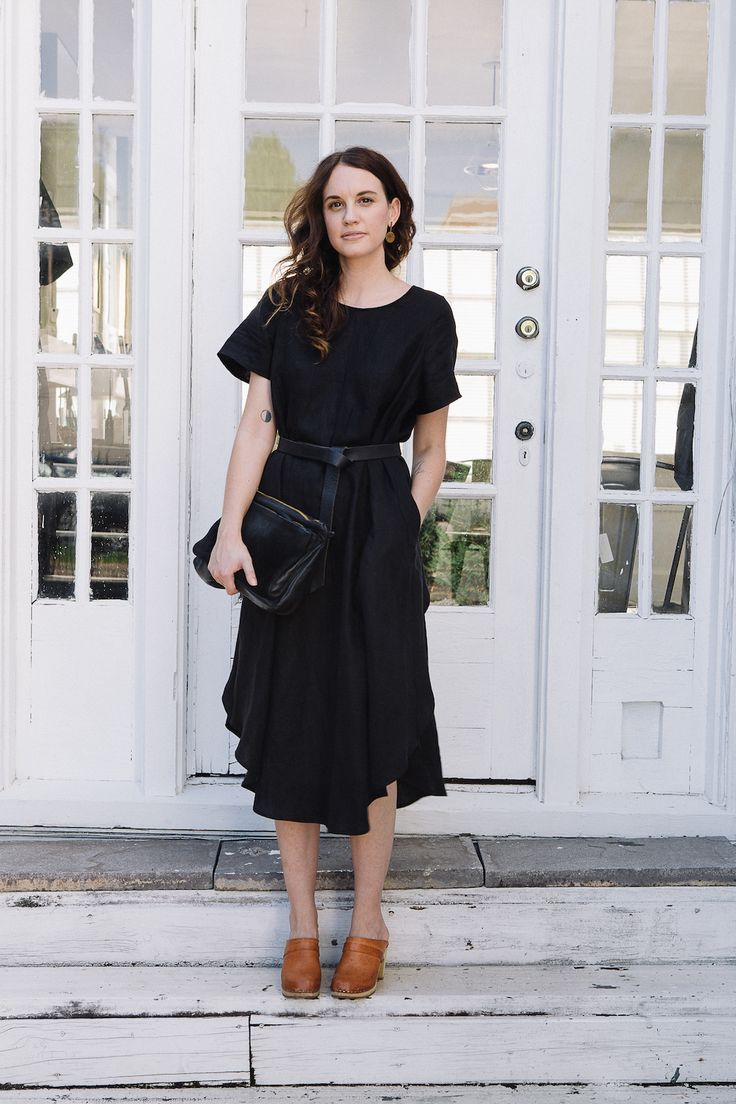 Black dress fall outfit 7 games