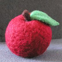 The Felted Ewe - Needle Felted Apple Instructions - Learn Needle Felting