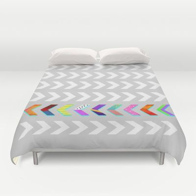 Go your own way v.2 /Grey Duvet Cover by Elisabeth Fredriksson - $99.00