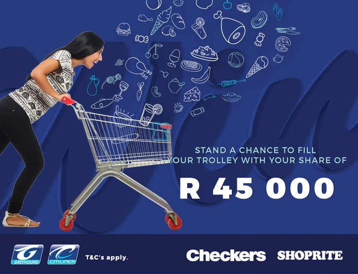 Don't forget to book your Greyhound bus ticket at any Checkers or Shoprite to stand a chance to win your share of R45 000 in shopping vouchers. How to enter: - Book your Greyhound bus ticket at a participating Shoprite or Checkers store - SMS your name, surname and ticket reference along with the keyword 'CHECK' to 45211 What are you waiting for? Book today! T & C's apply. https://www.greyhound.co.za/trolley-run-competition-tc-shoprite-checkers/ Entries close 31 August 2017