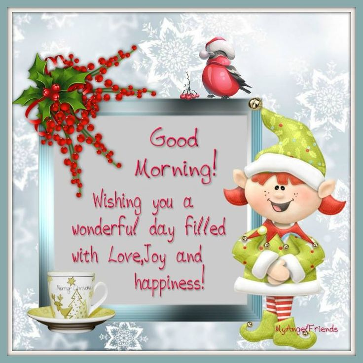 Christmas Good Morning Quotes: 48 Best Christmas Good Morning Images On Pinterest