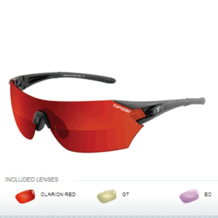 Tifosi Podium Golf Interchangeable Sunglasses - Clarion Mirror Collection - Matte Black