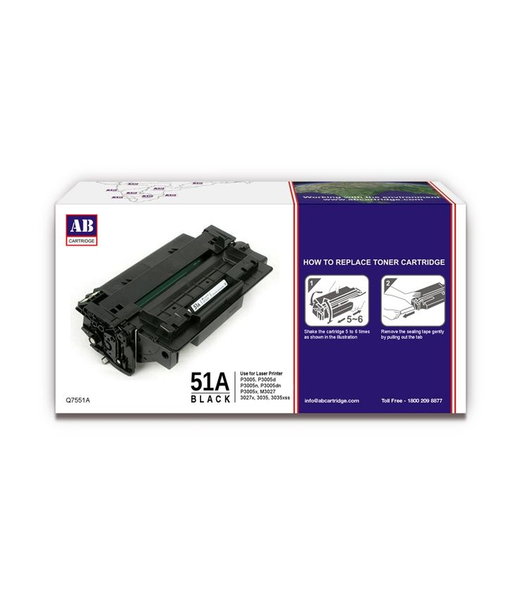 Loved it: AB 51A Black Toner Cartridge / Q7551A HP 51A Black Toner Compatible / For HP LaserJet P3005, P3005d, P3005n, P3005dn, P3005x, M3027, 3027x, 3035, 3035xss, http://www.snapdeal.com/product/ab-51a-black-toner-cartridge/887841786