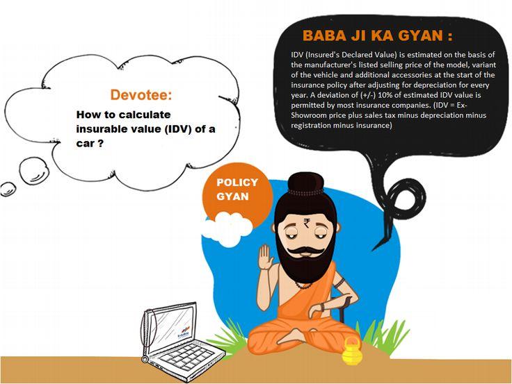#BajajiKaGyan-How to calculate #insurable value (IDV) of a #car, #InsuracneTips #InsuranceGyan #MyInsurancebazaar