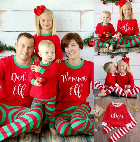 Matching Family Christmas Outfits.Personalised Christmas Pajamas Matching Christmas Pyjamas