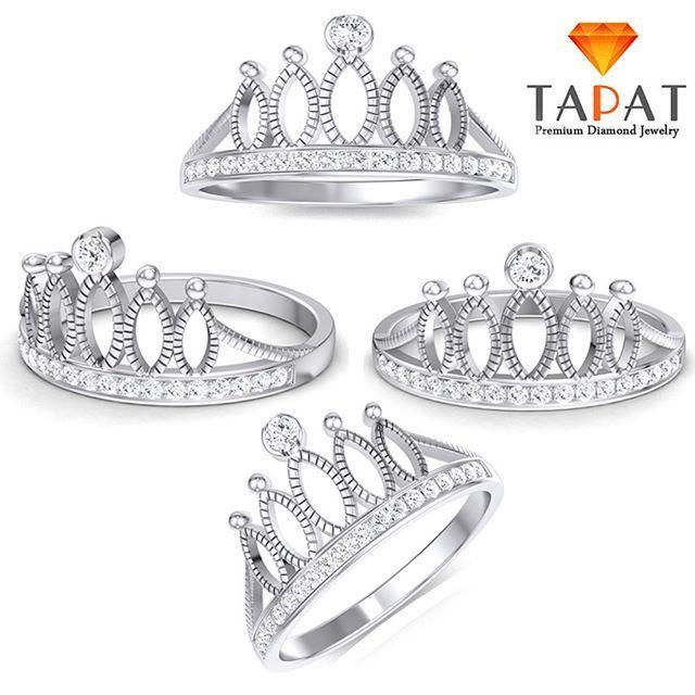 Beautiful Crown Style 14k White Gold Diamond Ring ***************************** Exclusive Offer 10% Discount, Gift Sterling Silver Pendant, Free Worldwide Shipping, Free Luxury Box. ************************************ http://etsy.me/2n8MxsJ ************************************ #Handmade #beautiful #diamond #designer #etsy #etsyseller #estyshop #fashion #beauty #jewelry #jewellery #ring #diamondring #engagement_ring #wedding #engagement #weddingring #partywear #look #nice #new #gift…